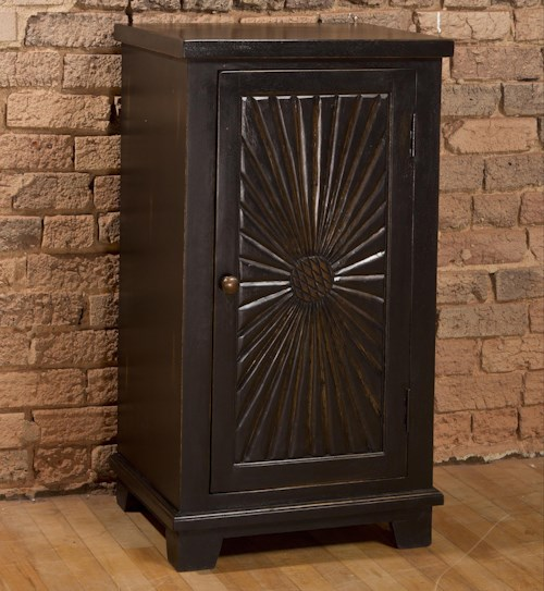 Hillsdale Accents Wooden Cabinet with Sunburst Design