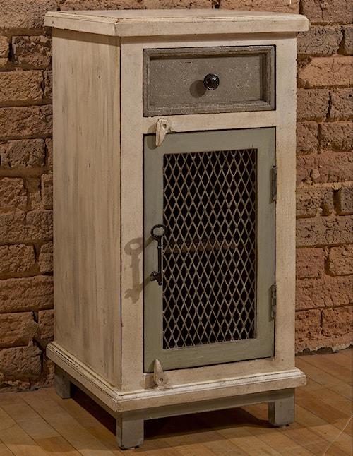 Hillsdale Accents Cabinet with Woven Wire Door and Door