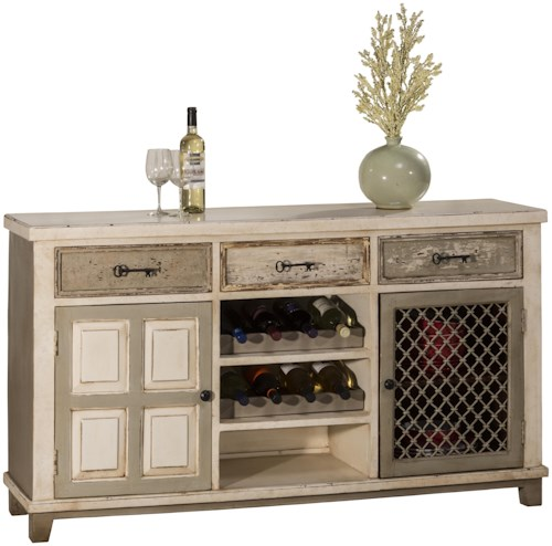 Hillsdale Accents Console Table with Two Storage Doors and Wine Rack