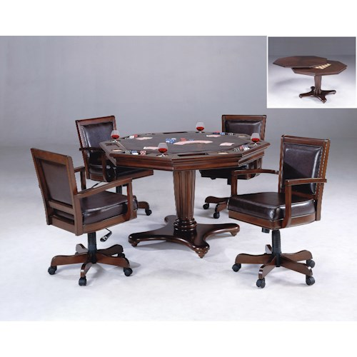 Hillsdale Ambassador 5-Piece Game Set with Dining and Game Table Tops