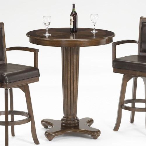 Hillsdale Ambassador Bar Height Table with Fluted Pedestal Pillar