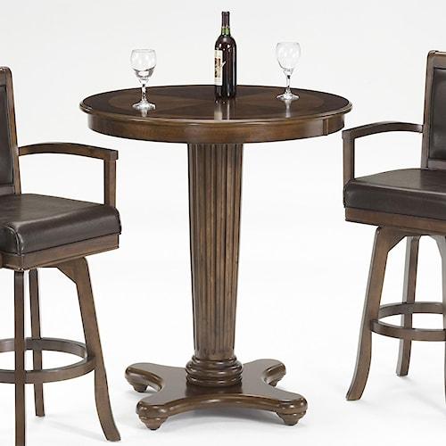 Hillsdale Ambassador Bar Height Table with Fluted Pedestal Pillar