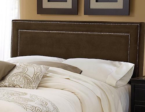 Hillsdale Amber Chocolate Fabric Headboard - King