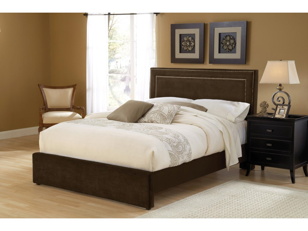 Hillsdale Amber ChocolateQueen Bed Set with Rails