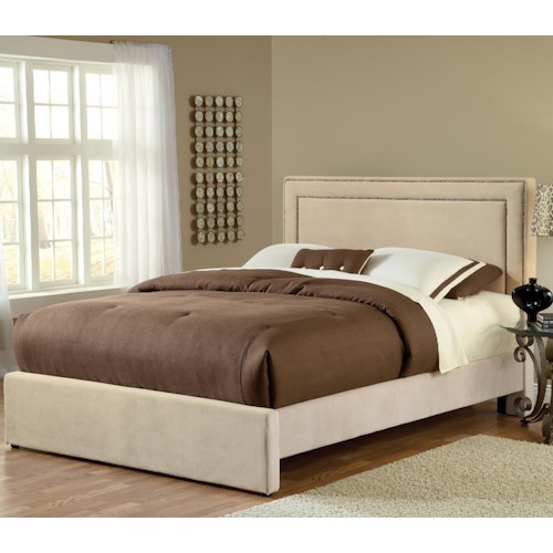 Hillsdale Amber Buckwheat King Upholstered Bed Set with Rails
