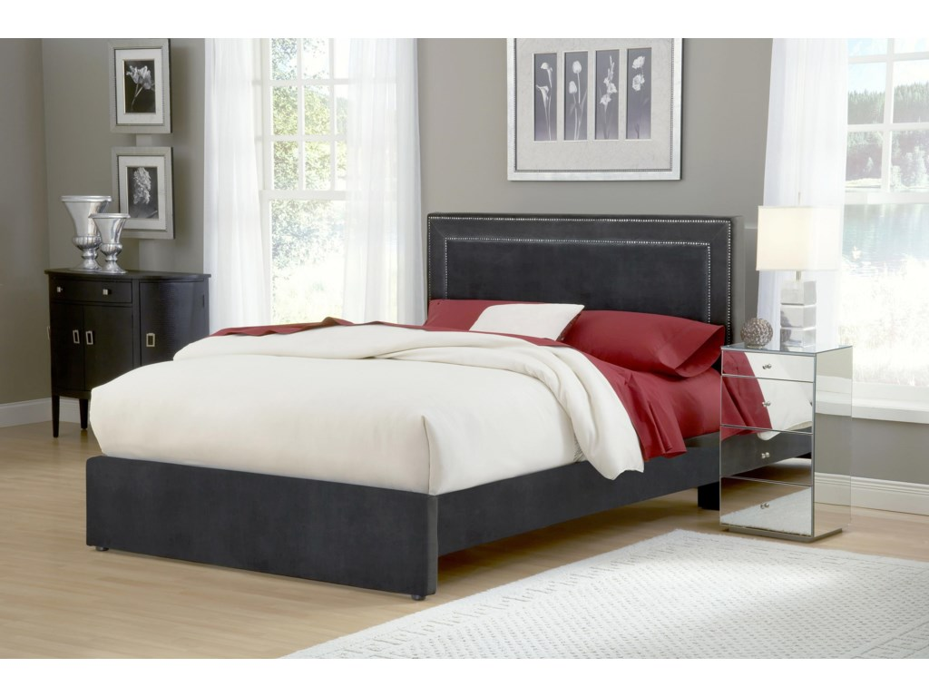 Hillsdale Amber PewterKing Bed Set with Rails