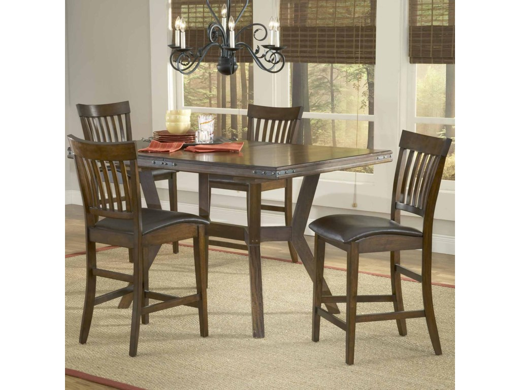 Shown with Counter Stools as Five Piece Set