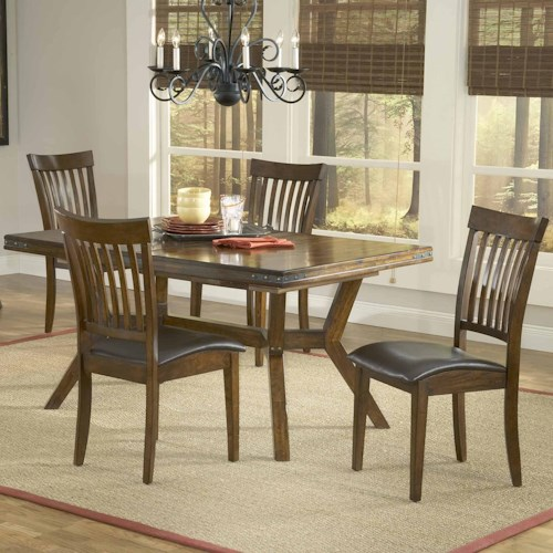 Hillsdale Arbor Hill 5 Piece Rectangular Dining Table Set