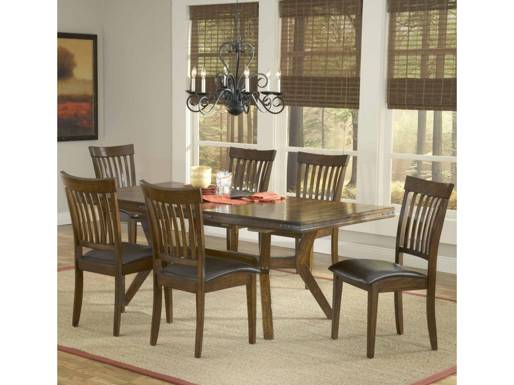 Arbor hill 7 piece rectangular dining table set by hillsdale