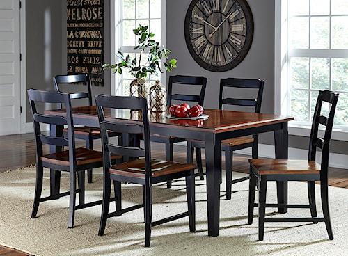 Hillsdale Avalon 7 Piece Table & Chair Set