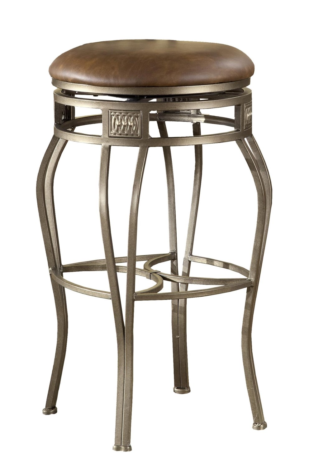 Backless bar stools 26 backless montello swivel counter stool by hillsdale