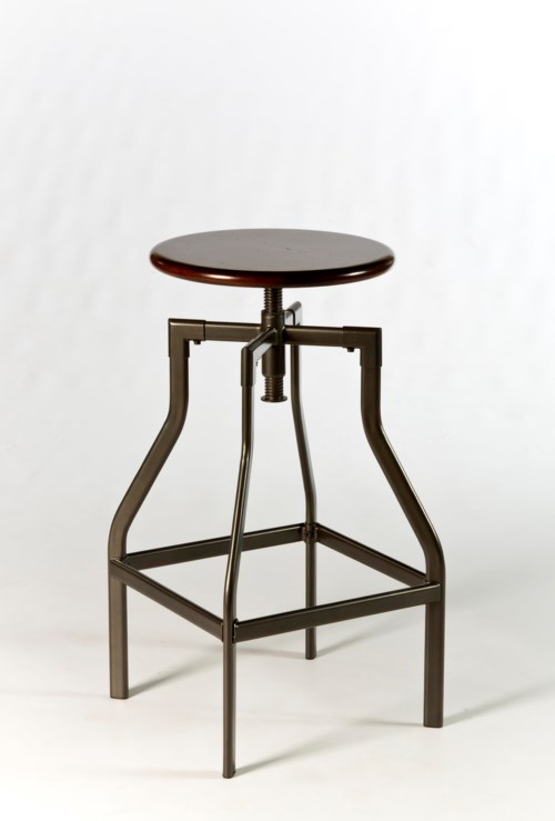 Hillsdale Backless Bar Stools Cyprus Adjustable Backless