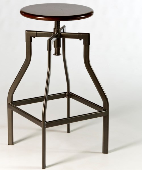 Hillsdale Backless Bar Stools Cyprus Adjustable Backless Stool with Track Legs