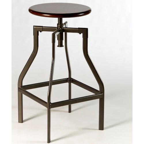 Hillsdale Backless Bar Stools Cyprus Adjustable Backless Stool With