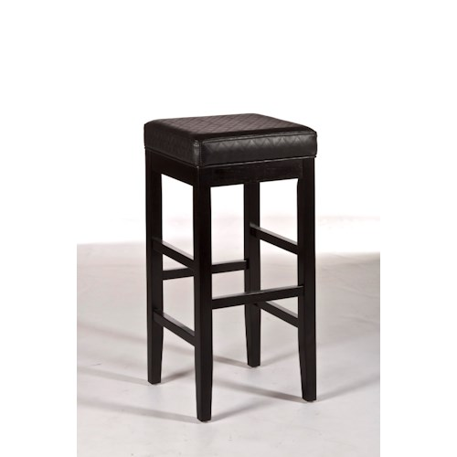 Hillsdale Backless Bar Stools Hammond Backless Bar Stool with Stretcher
