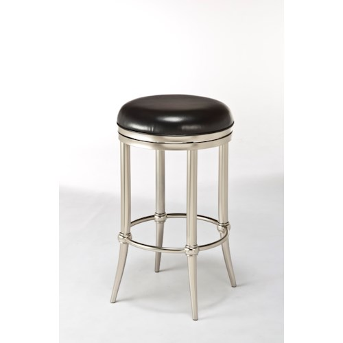 Hillsdale Backless Bar Stools Cadman Backless Counter Stool with Tapered Feet