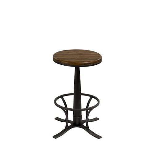 Hillsdale Backless Bar Stools Rivage Backless Swivel Bar Stool with Cage Detail