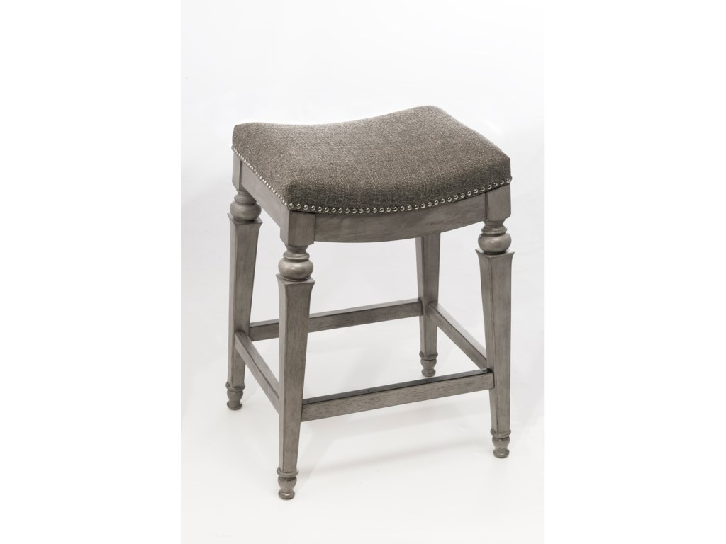 Hilale Backless Bar Stools Non Swivel Counter Stool With Nailhead Trim