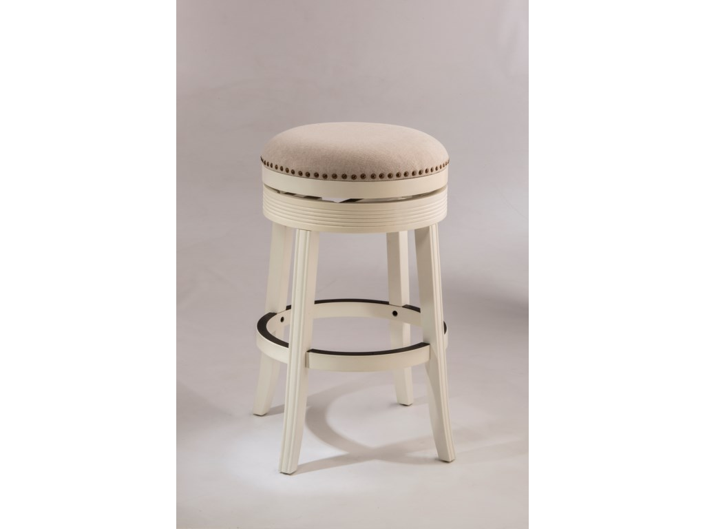 Backless bar stools white backless swivel bar stool with nailhead trim by hillsdale