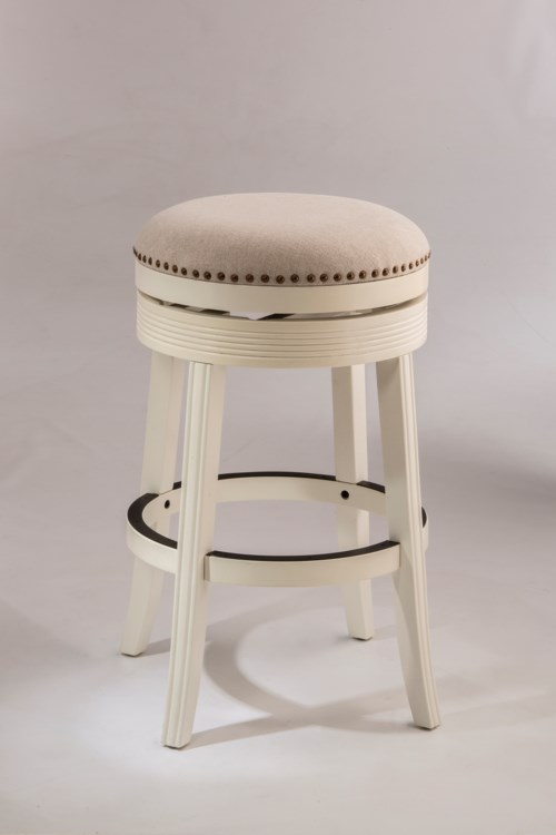 Hillsdale Backless Bar Stools White Backless Swivel Bar