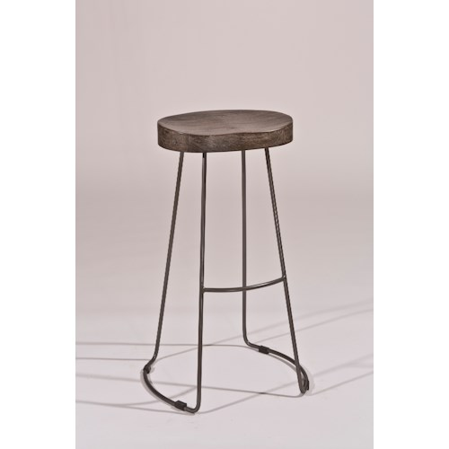 Hillsdale Backless Bar Stools Minimalist Tractor Non-Swivel Bar Stool