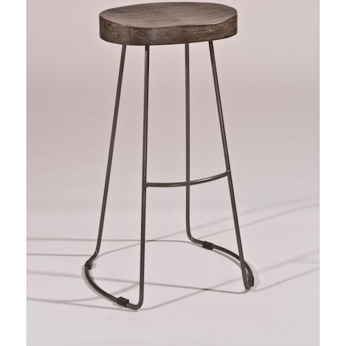 Hilale Backless Bar Stools Minimalist Tractor Non Swivel Stool