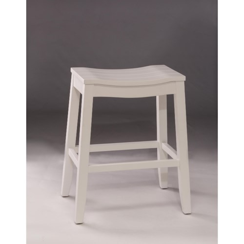 Hillsdale Backless Bar Stools White Backless Non-Swivel Counter Stool
