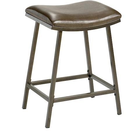 Saddle Counter/Barstool with Nested Leg