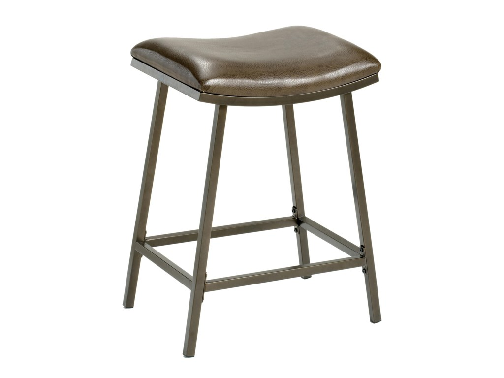 Hillsdale Backless Bar StoolsSaddle Counter/Barstool with Nested Leg