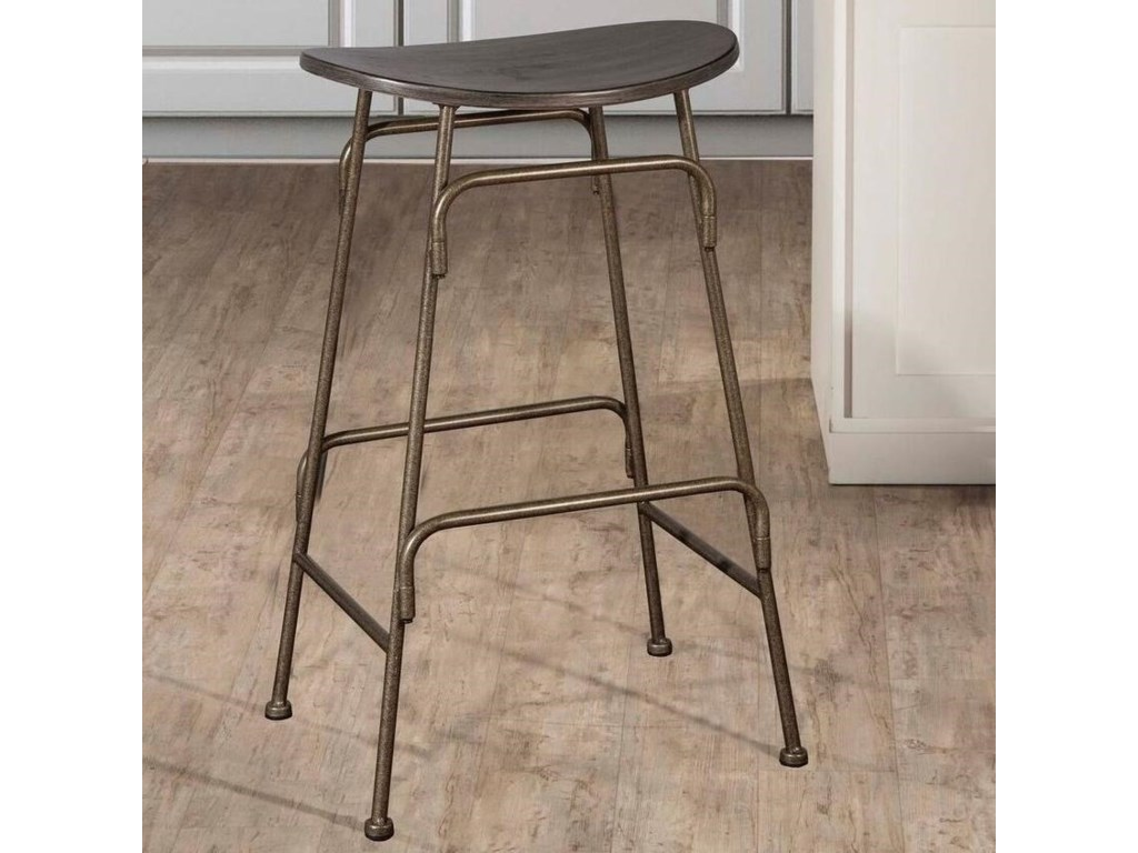 827 Backless Metal Counter Height Stool