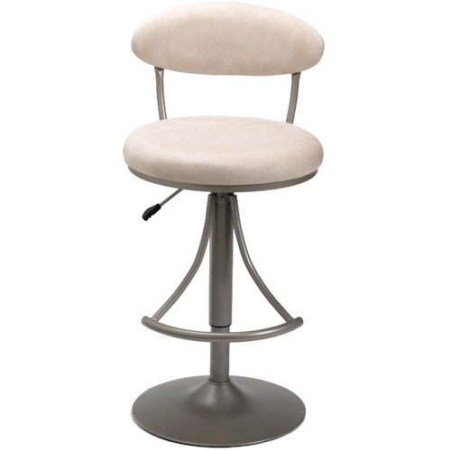 Hillsdale Metal Stools Adjustable Height Venus Swivel Stool with Fawn Suede
