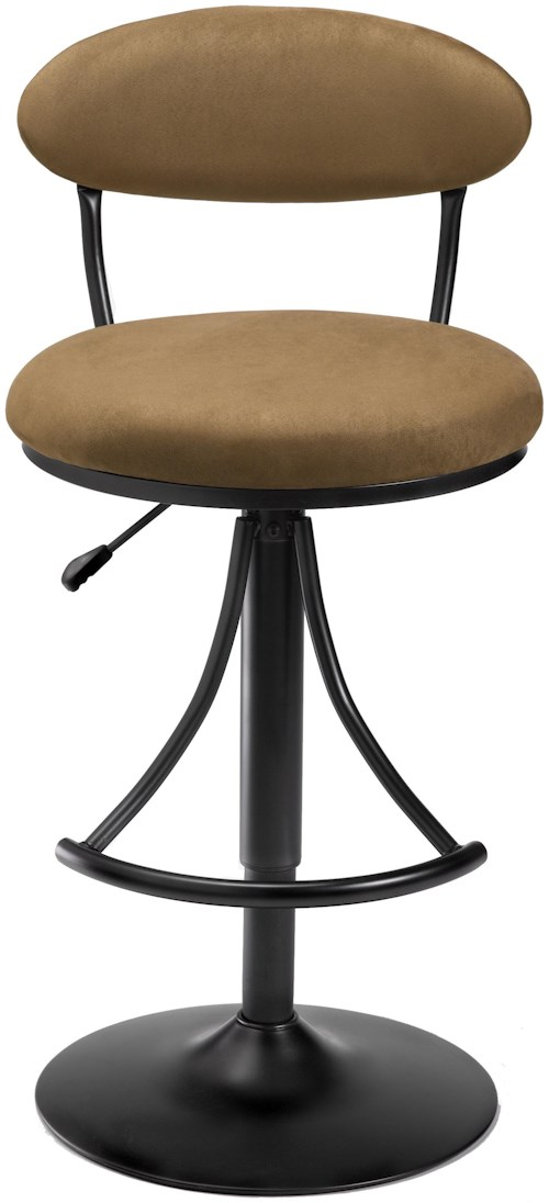 Hillsdale Metal Stools Adjustable Height Venus Swivel Stool with Bear Suede