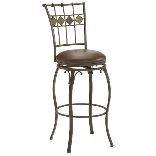 Hillsdale Metal Stools Lakeview Counter Height Stool