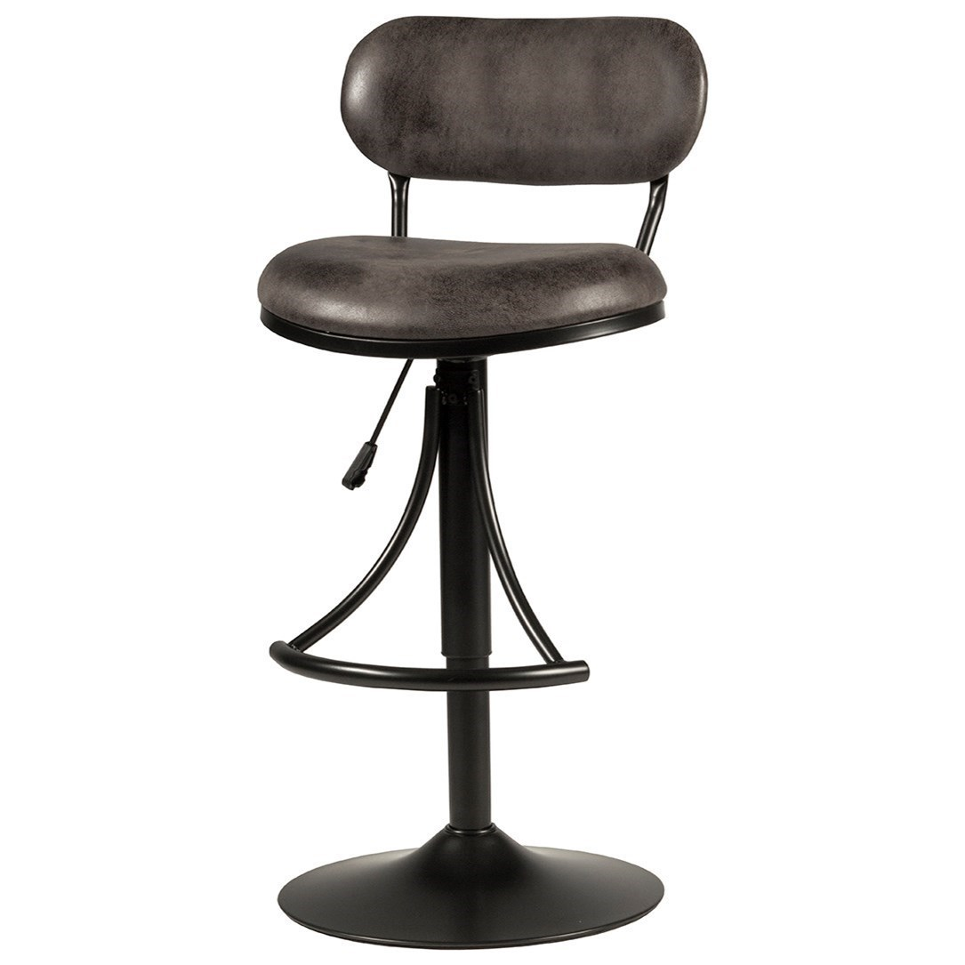 Athena Swivel Adjustable Counter/Bar Height Stool in Black