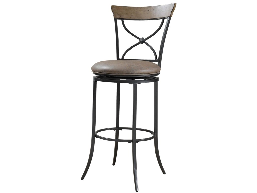 Hillsdale Metal StoolsCharleston Swivel X-Back Counter Stool