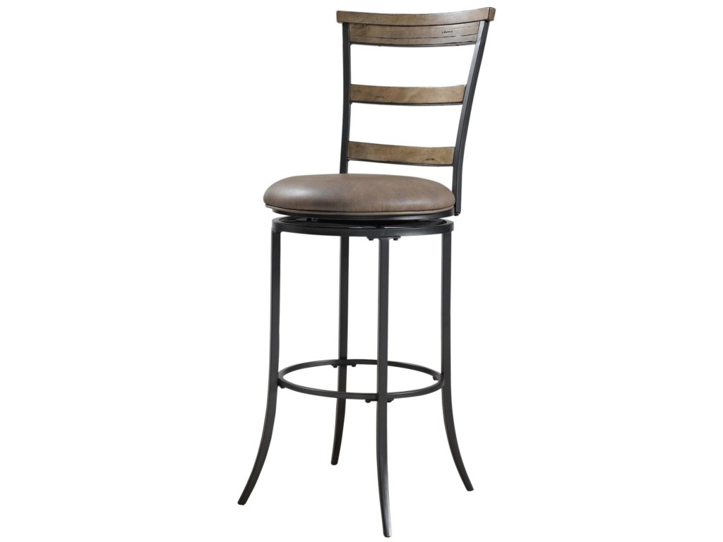 Hillsdale Metal StoolsCharleston Swivel Ladder Back Bar Stool