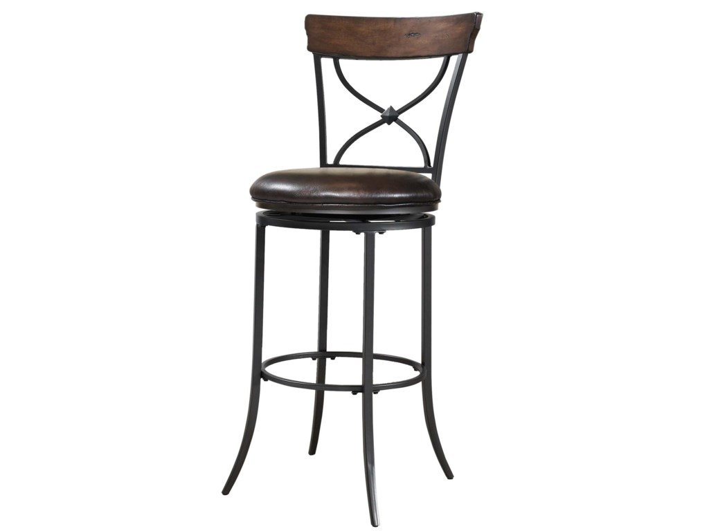 Hillsdale Metal StoolsCameron Swivel X-Back Counter Stool