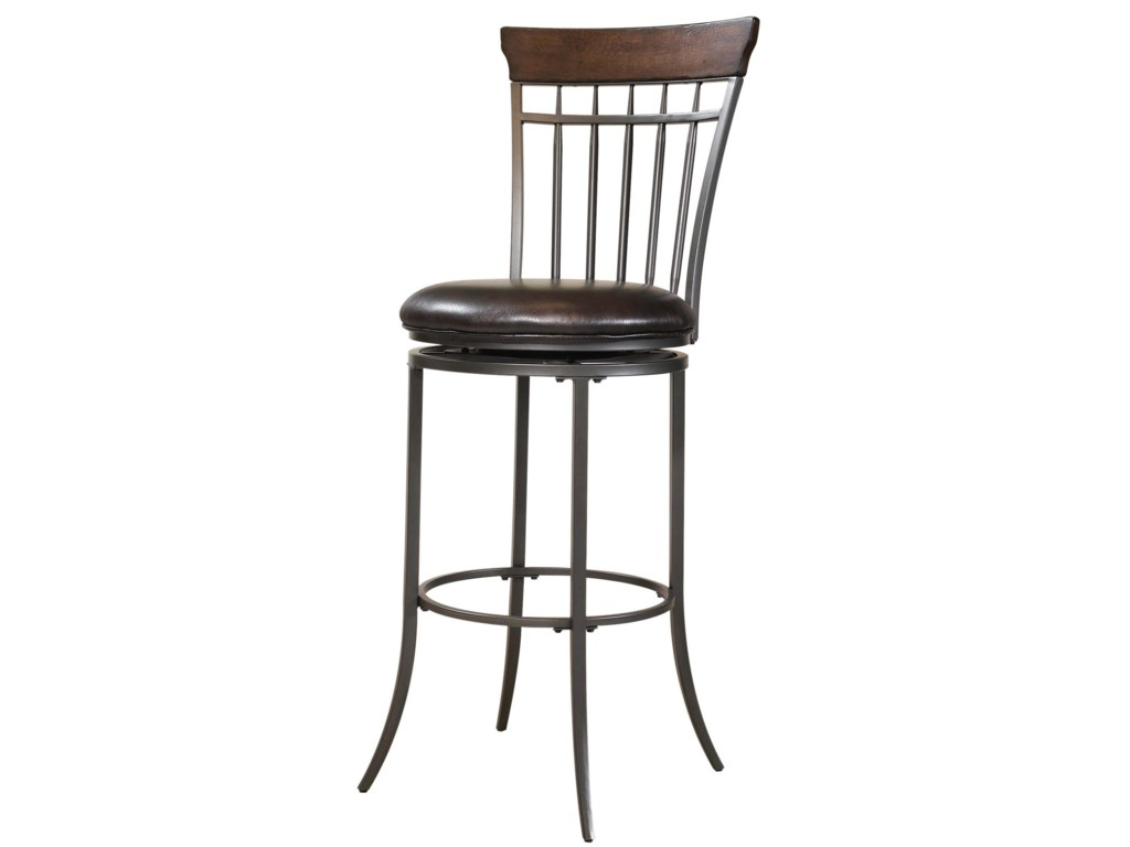 Hillsdale StoolsCameron Swivel Spindle Back Bar Stool
