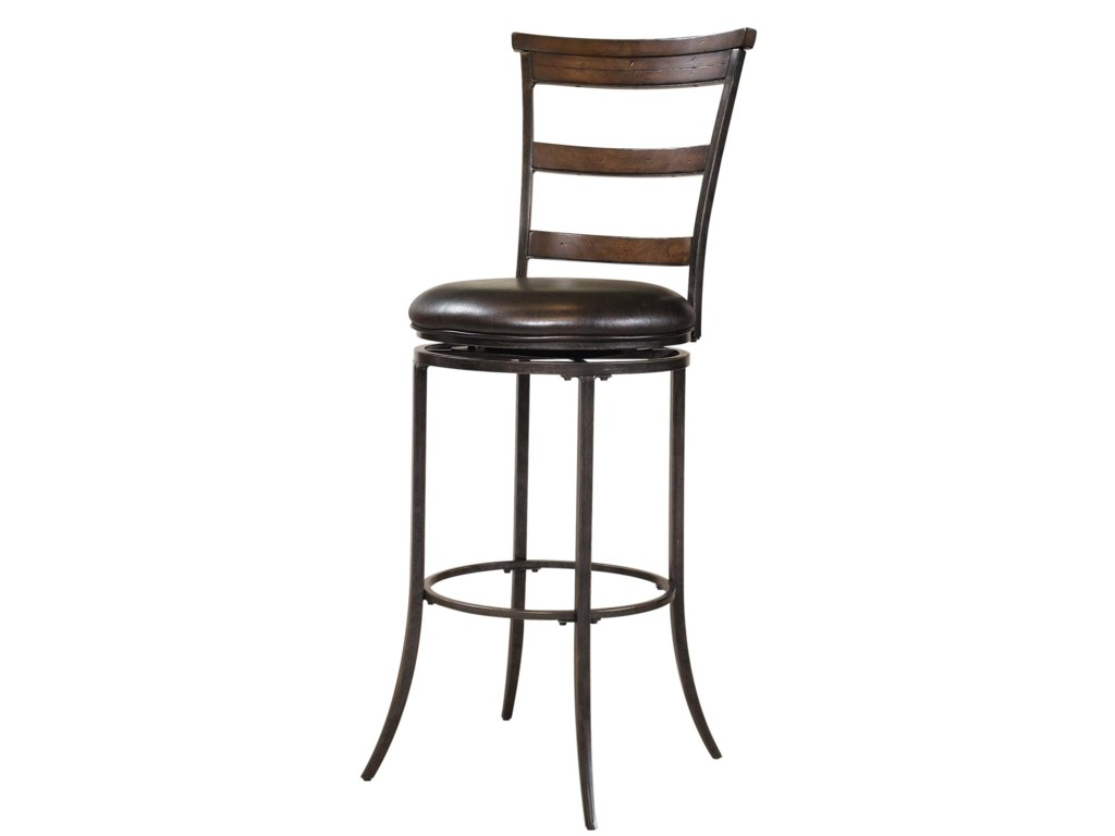 Hillsdale Metal StoolsCameron Swivel Ladder Back Bar Stool