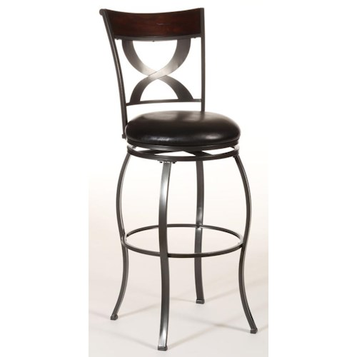 Hillsdale Metal Stools Stockport Swivel Counter Height Stool