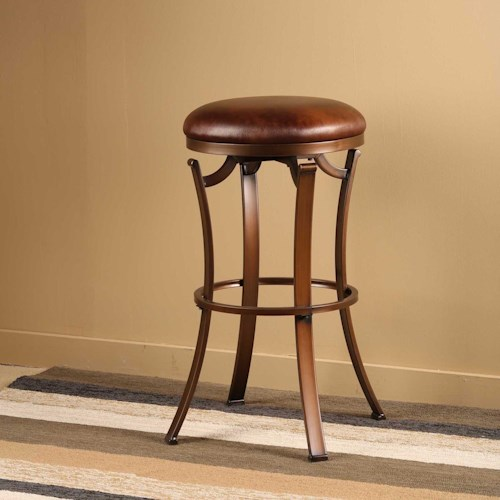 Hillsdale Metal Stools Kelford Backless Bar Stool w/ Swivel Seat