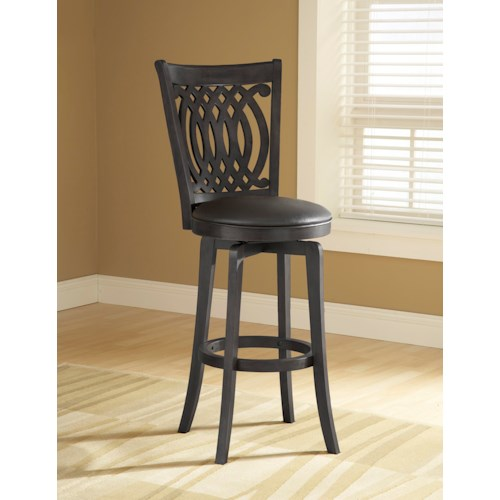 Hillsdale Metal Stools Van Draus Swivel Counter Stool with Flared Legs