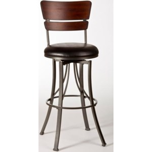 Hillsdale Stools 5097 826 Santa Monica Counter Stool With Wood Back Esprit Decor Home Furnishings Bar Stools