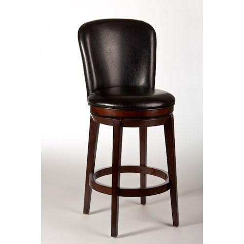 Hillsdale Metal Stools Victoria Swivel Counter Stool with Splayed Legs