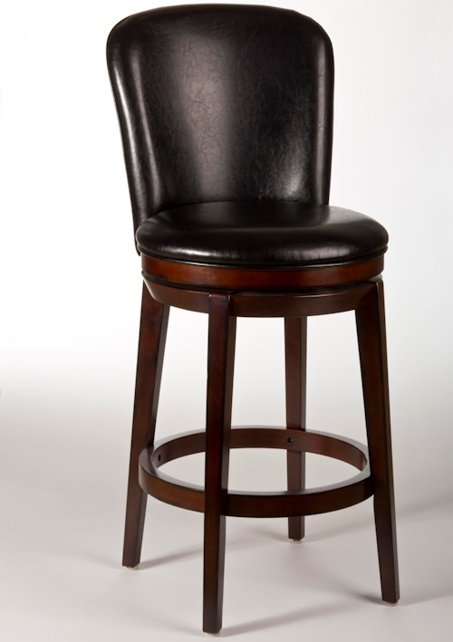 Hillsdale Metal Stools Victoria Swivel Bar Stool with Splayed Legs