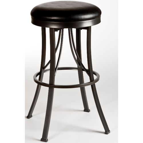 Hillsdale Metal Stools Ontario Backless Counter Stool with Flared Legs