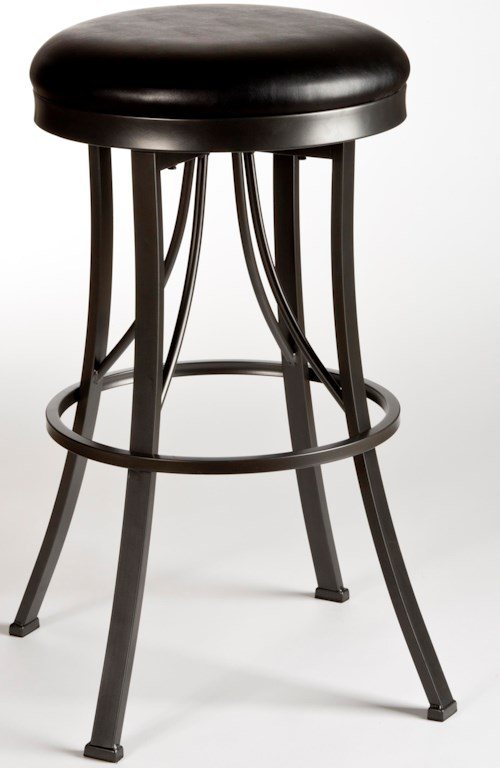 Hillsdale Metal Stools Ontario Backless Bar Stool with Flared Legs