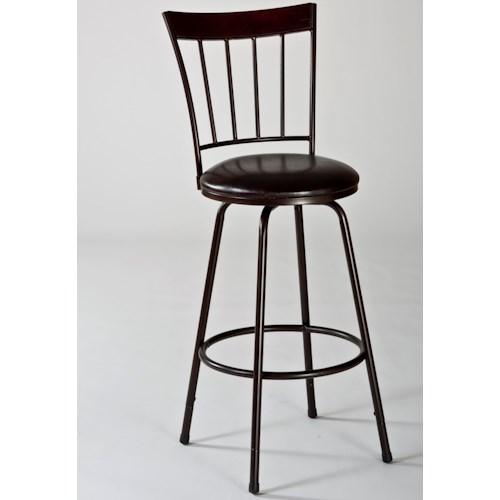 Hillsdale Metal Stools Cantwell Swivel Counter/ Bar Stool with Slat Back