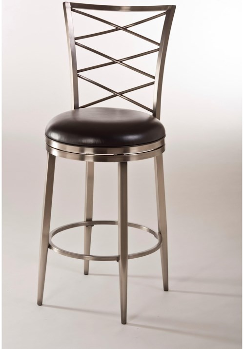Hillsdale Metal Stools Upholstered Swivel Bar Stool