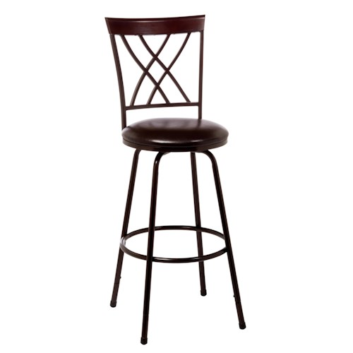 Hillsdale Metal Stools Northland Swivel Counter/Bar Stool With Interlocking X Design